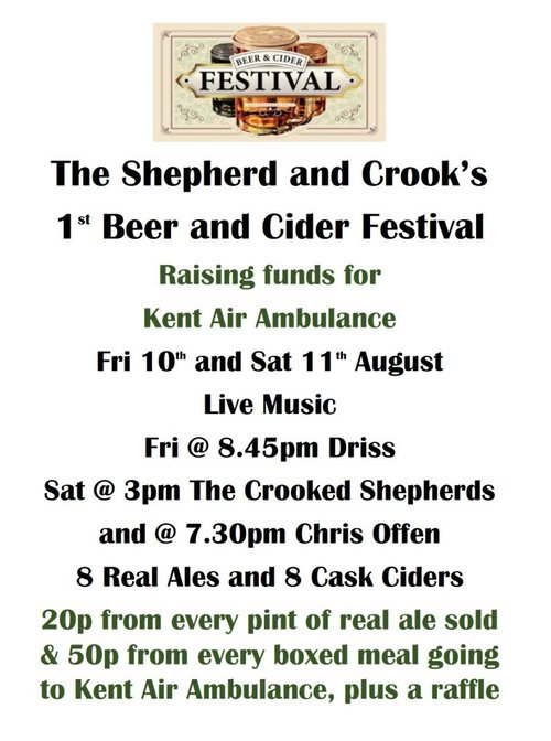 shepherd and crook beer and cider festival