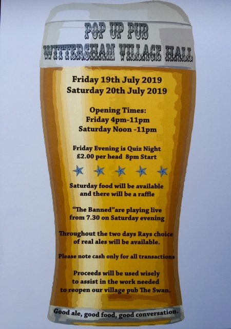 wittersham pop up pub