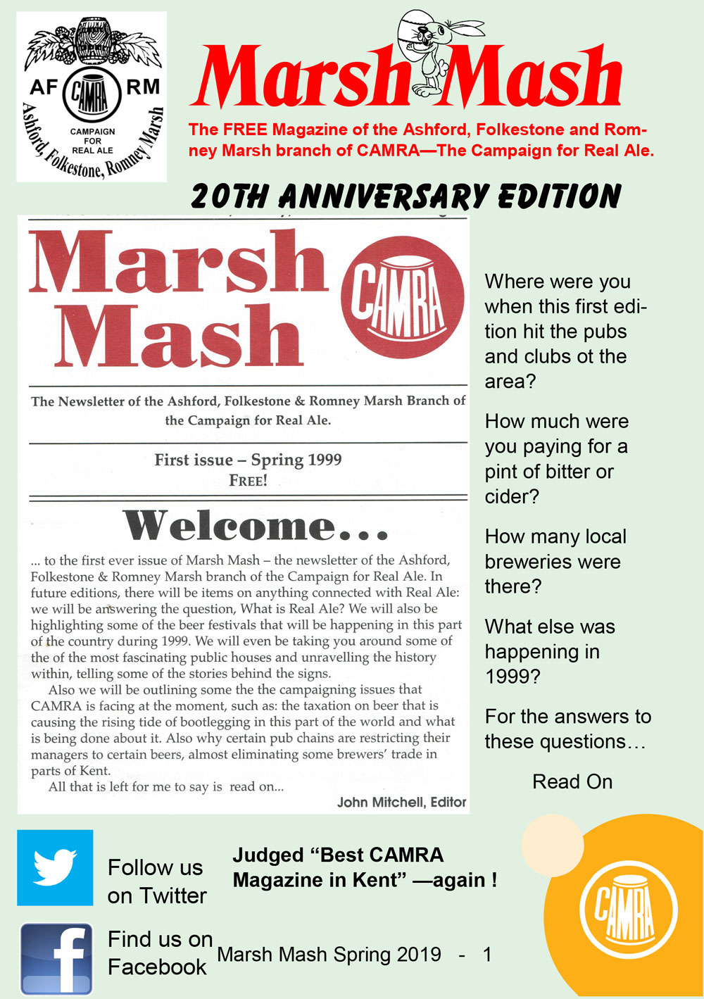 Marsh Mash Spring 2019 front page